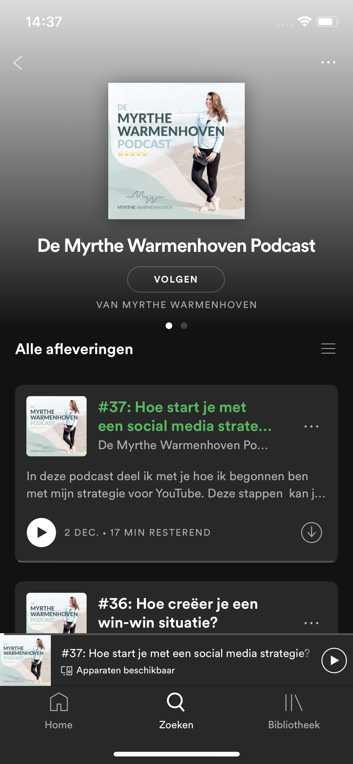 Myrthe Warmenhoven podcast