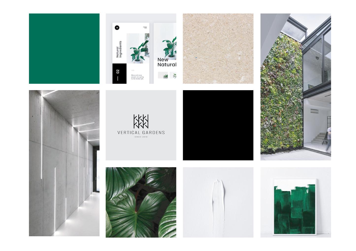 Vertical Gardens moodboard