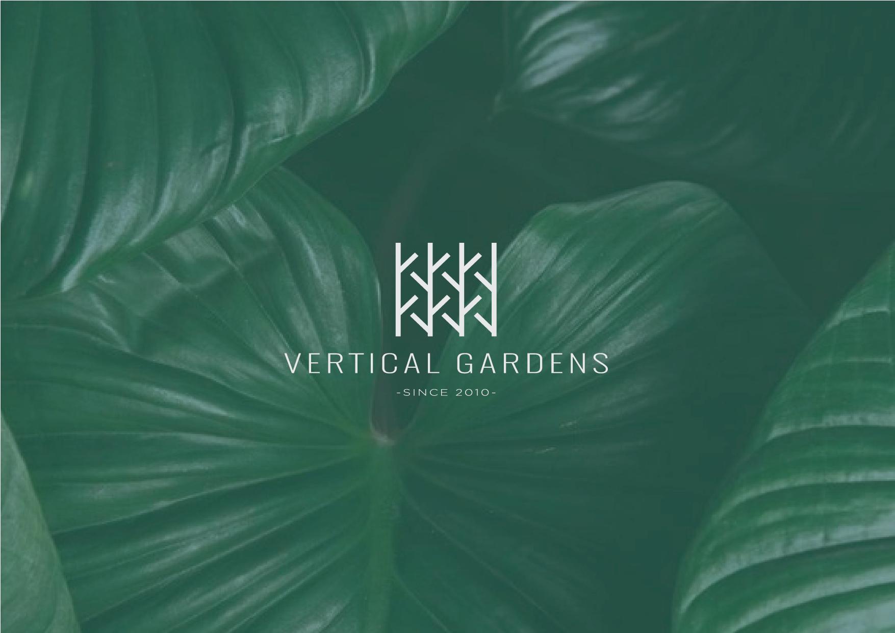 Vertical Gardens - logo design Studio Solide