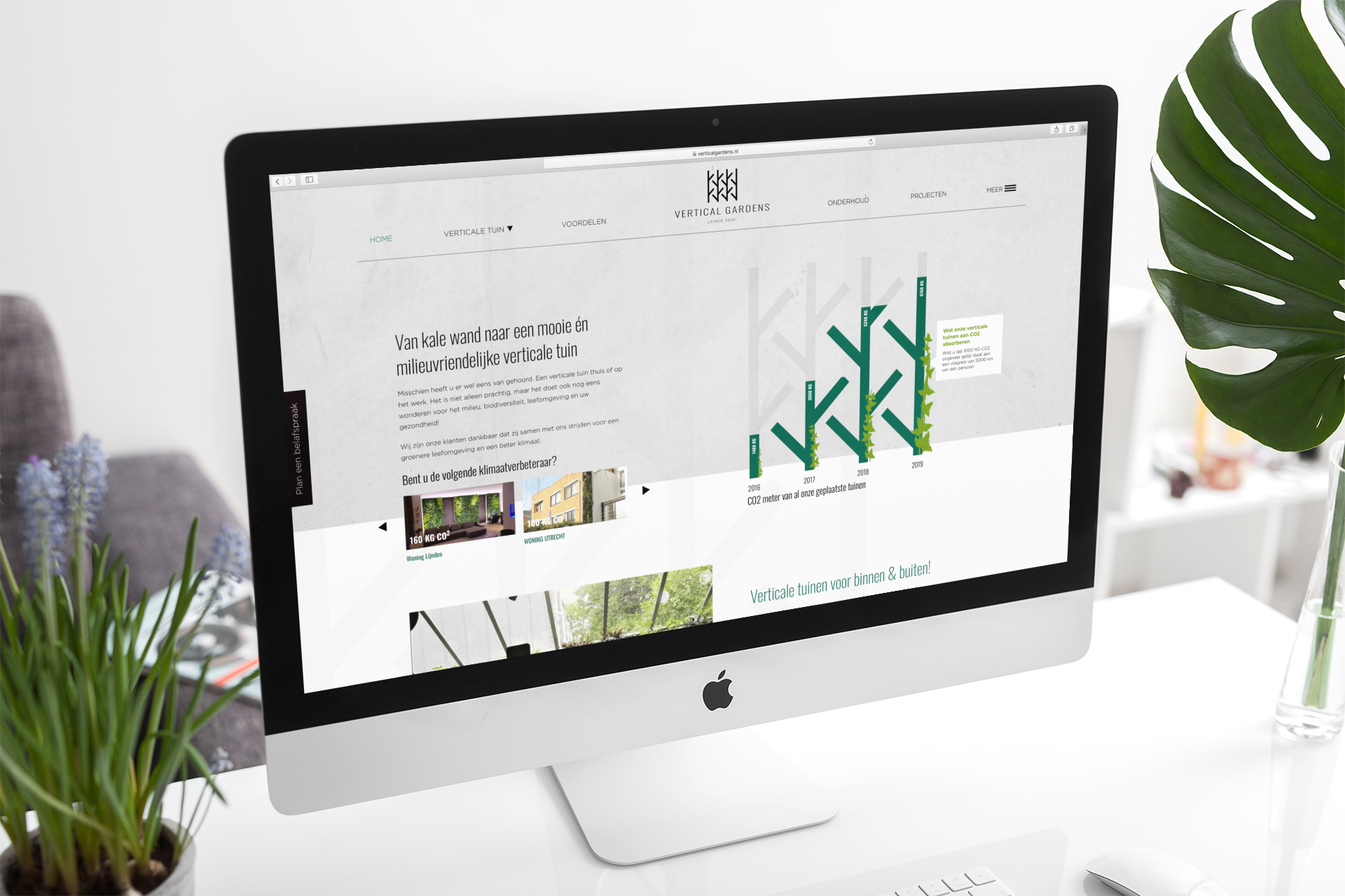 Vertical Gardens webdesign ontwerp