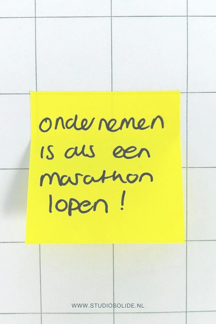 Ondernemen is als een marathon lopen!