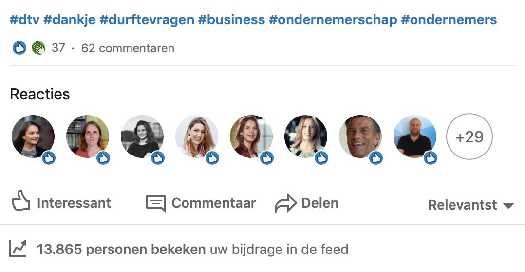 Linkedin reacties